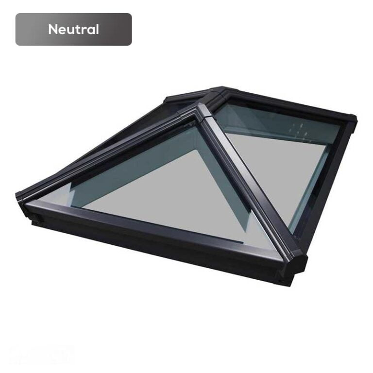 Roof lantern with neutral glass